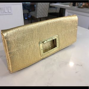 Handbags - Gold fold over evening bag